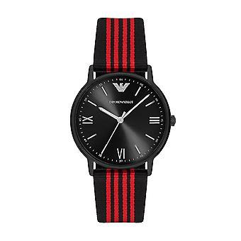 Emporio Armani Ar11015 Men's Black Band Quartz Watch