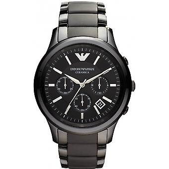Emporio Armani Ar1452 Men's Black Ceramica Chronograph Bracelet Watch