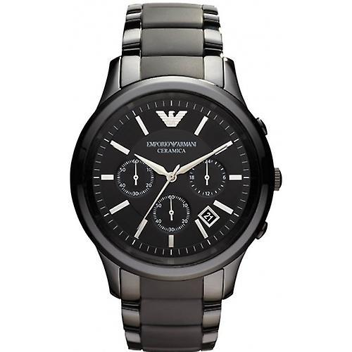 Emporio Armani Ar1452 Men's Black Ceramica Chronograph Bracelet Watch