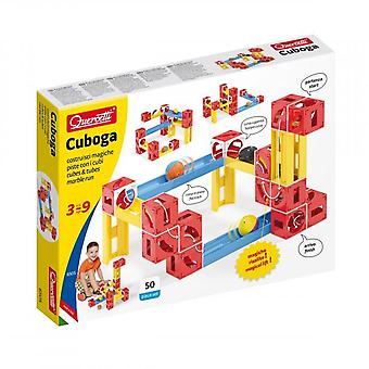Quercetti Cuboga Premium 50 Piece Marble Run Ages 3-9 Years
