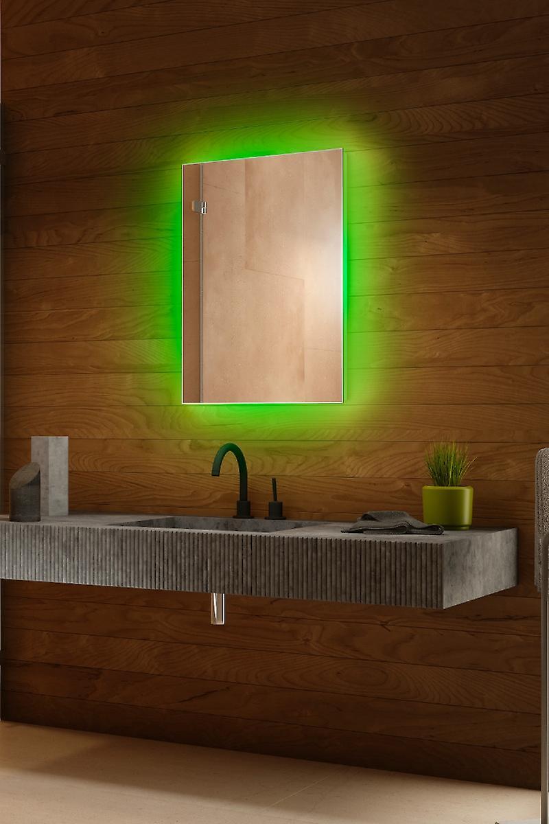 RGB audio rétro-éclairé miroir avec capteur, demister & Shaver k704BLrgbaud