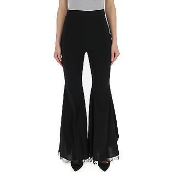 Amen Acs19316089 Donne's Pantaloni di cotone nero