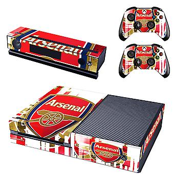 REYTID Console Skin / Sticker + 2 x Controller Decals & Kinect Wrap Compatible with Microsoft Xbox One - Full Set - Arsenal