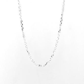 Eternity Sterling Silver 24'' Diamond Cut Belcher Chain