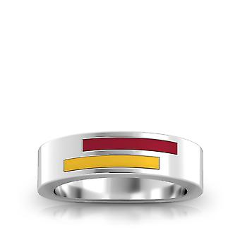 University of Southern California Sterling Silber asymmetrische Emaille Ring in rot und gelb