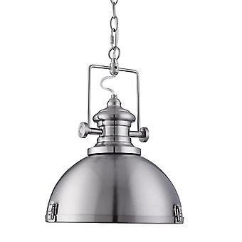 Saténový stříbrný průmyslový přívěsek s akrylovým difuzorem - Světlomet 2297SS
