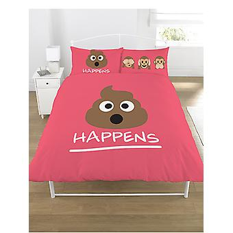 Emoji Mr Poo paplan Cover és Párnahat szett