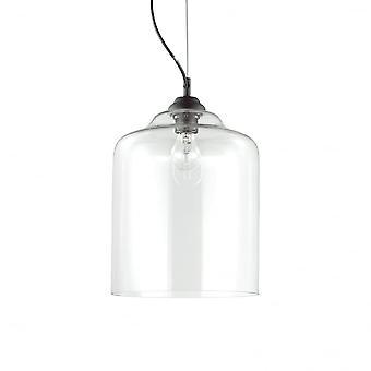 Ideal Lux Bistro Einzelanhänger Licht Quadrat Transparent