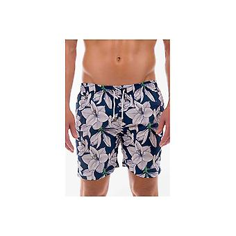 Franks Swim Shorts Franks Mid Length Swim Shorts Coolum Navy