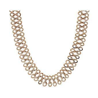 Gemshine halskjede choker art deco i sølv eller forgylt-laget i Spania