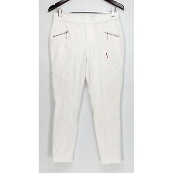 H par Halston Petite Jeans Petite Knit Denim Ankle Jeans White A301012