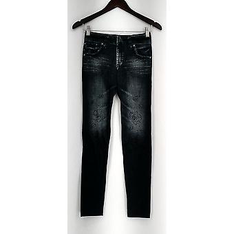 Slim 'N Lift Leggings Caresse Jean Printed Knit Studded Blue S420429
