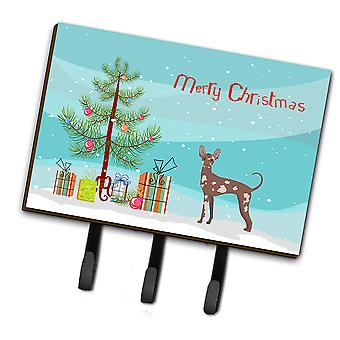 Mexican Hairless Dog Christmas Tree Leash or Key Holder