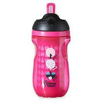 Tommee Tippee Glass With Drink Easy straw girl. + 12 Months