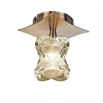 Mantra Rosa Del Desierto Ceiling 1 Light G9, Antique Brass