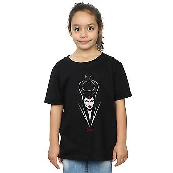 Disney Girls Maleficent Mistress Of Evil Face T-Shirt