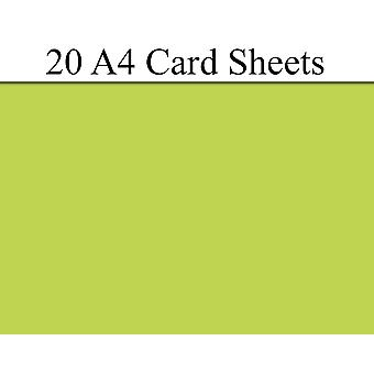 20 Lime Green A4 Card Sheets for Crafts   Coloured Card for Crafts