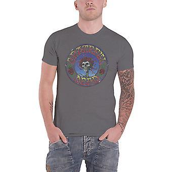 Grateful Dead T Shirt Bertha Circle Vintage Wash new Official Mens Charcoal Grey