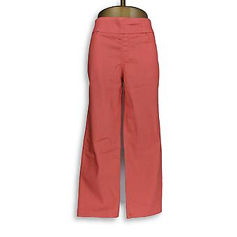 Denim & Co. Damen's Petite Jeans Perfect Denim Smooth Waist Pink A239620