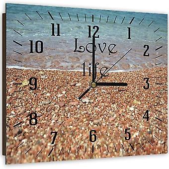 Reloj decorativo con imagen, Love Life Sea Shore