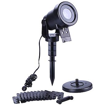 Lampa projektoru s LED osvětlením sněhové vločky venku