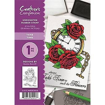 Crafter's Companion A6 Rubber Stamp - Take Time