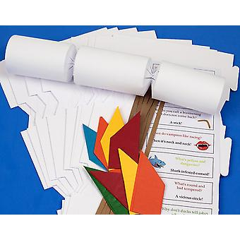 30 White 'Cheap as Chips' Make & Fill Your Own Recyclable Christmas Cracker Kit
