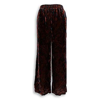 G.I.L.I. got it love it Women's Petite Pants 6 Velvet Wide Red A345188