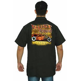 Trabajo mecánico camiseta cubo oxidado Auto Club hombres