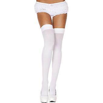 Grundlegende lange Socken-weiß