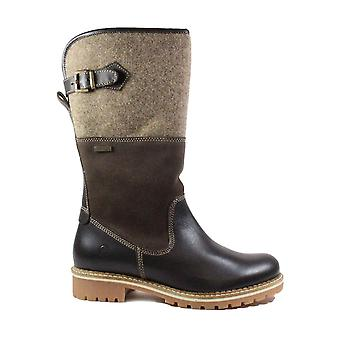 Tamaris 26432 Brown Leather Womens Warm Mid Calf Boots