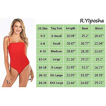 R.YIposha Women's Sexy Spaghetti Strap Basic Cami Leotard Top Sleeveless Body...