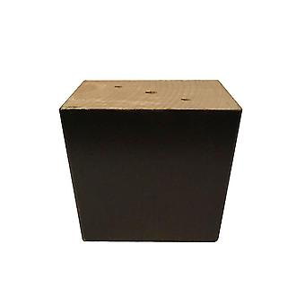 Brown Squares Meubles en bois Jambe 7 cm