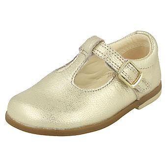 Girls Clarks T-Bar Shoes Drew Shine