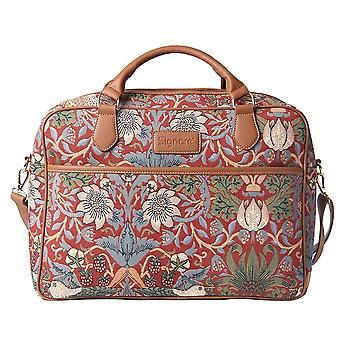 William morris - strawberry thief red computer bag by signare tapestry / 15.6 inch / cpu-strd