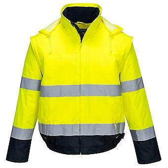Portwest-Hi-vis sikkerhed arbejdstøj Essential 2 i 1 jakke