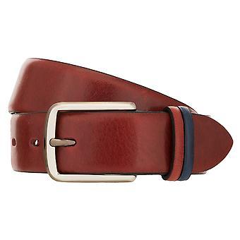 LLOYD Men's Belts Men's Belt De couro Completo Cowhide Bordeaux 8423