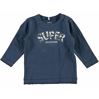 Όνομα-It Μπλε Αγόρια Νεογέννητο Tshirt Nitfebs