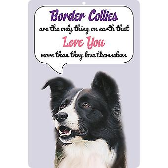 Faithful Friends Collectables 3d Dog Loves You Hang Up Border Collie