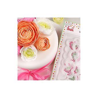 FMM El Ranunculus más fácil nunca jamás con cortador de hoja flor cortador azucarero conjunto de 2