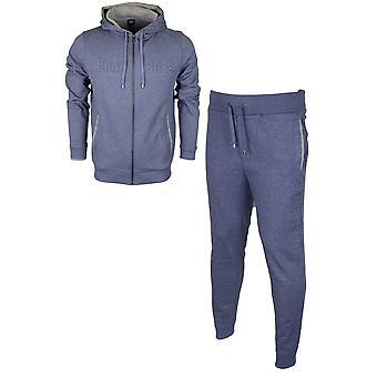 Hugo Boss 50381426 50381886 bawełny Regular Fit Bluza z kapturem niebieski melanż