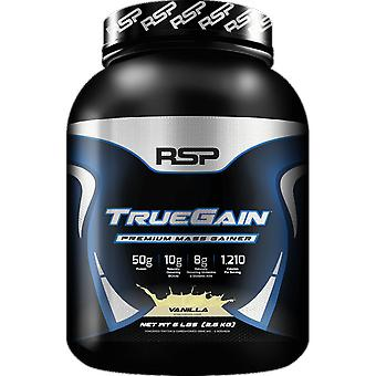 Rsp truegain, premium mass gainer whey protein, strength, muscle gain (vanilla)