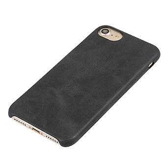 For iPhone SE(2020), 8 & 7  Case,Stylish Ultra-slim Durable Protective Leather Cover,Black