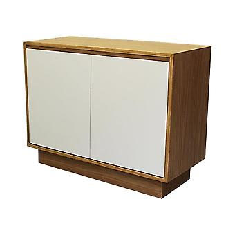 Fusion Living Contemporary Oak and Vanilla Piccola Credenza