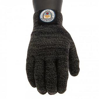 Manchester City FC Childrens/Kids Luxury Touchscreen Gloves