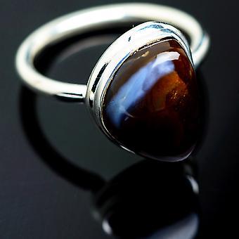 Boulder Opal Ring Größe 7,25 (925 Sterling Silber) - handgemachte Boho Vintage Schmuck RING991966