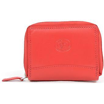 Miesten/naisten pehmeä nahka tasku koko kukkaro/lompakko avaimen perät, luotto kortti paikat ja kolikko tasku (musta)