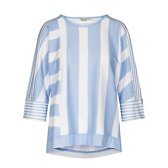 Féraud 3201118-16381 Naiset's Rento Chic Ringlet Sky Sininen Raidallinen Pyjama Pusero