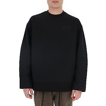 Y-3 Fn3366 Männer's schwarze Baumwolle Sweatshirt