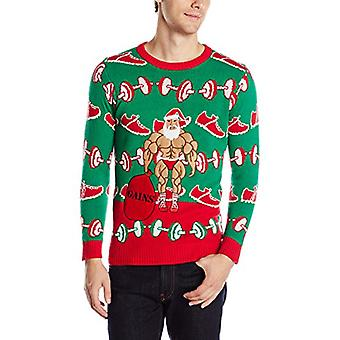 Blizzard Bay Men's Ugly Christmas Sweater Fitness, Green/Red, X-Large